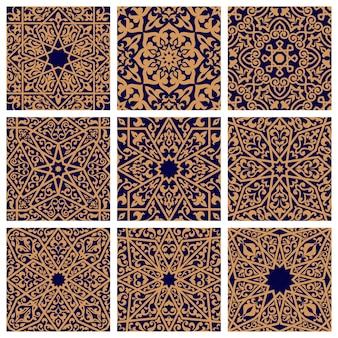 Set van arabische naadloze bloemenpatronen