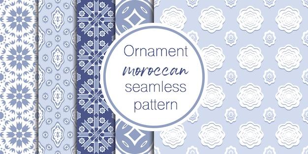 Set van arabische naadloze ornament patroon