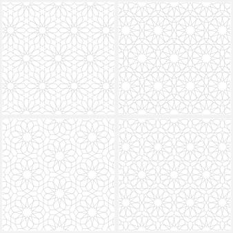Set van arabische naadloze patroon achtergrond