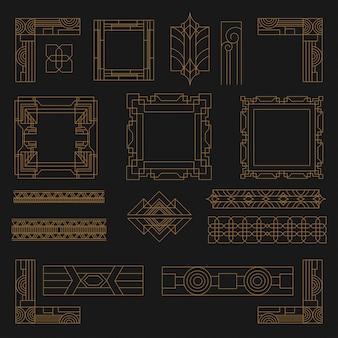 Set van art deco vormen