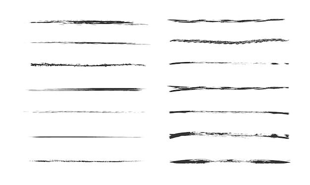 Set van artistieke penborstels. doodles inktborstels set