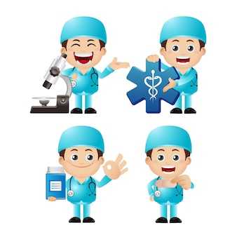 Set van arts