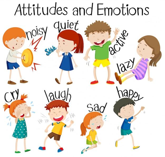 Set van attitudes en emoties