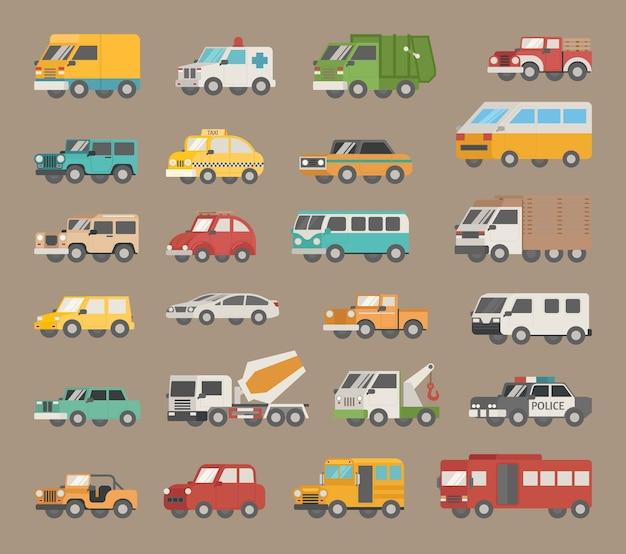 Set van auto pictogram