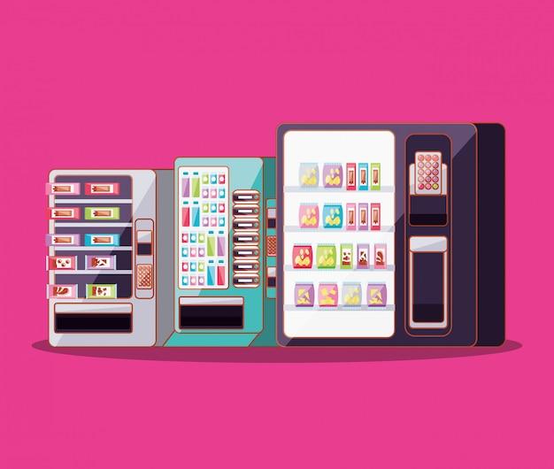Set van automaten elektronica