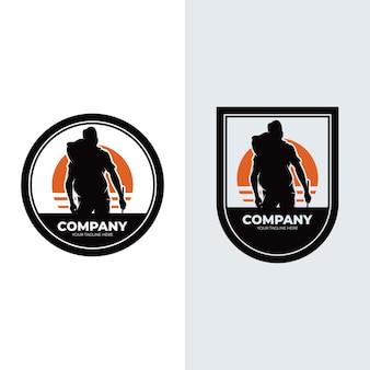Set van avontuurlijke logo-ontwerpinspiratie