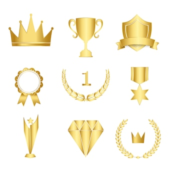 Set van awards en badges vector