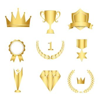 Set van awards en badges vector