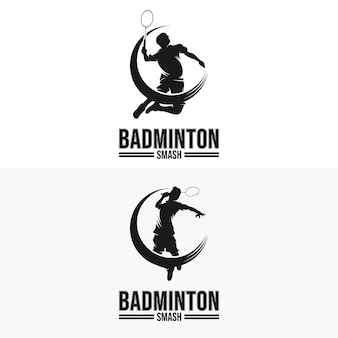 Set van badminton smash-logo