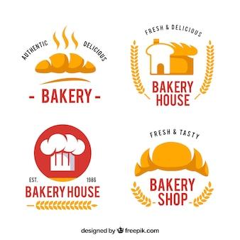 Set van bakkerij logo's voor bedrijf