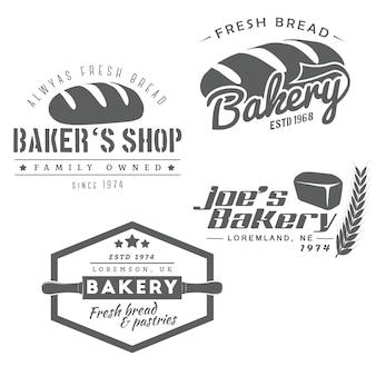 Set van bakkerij-logo