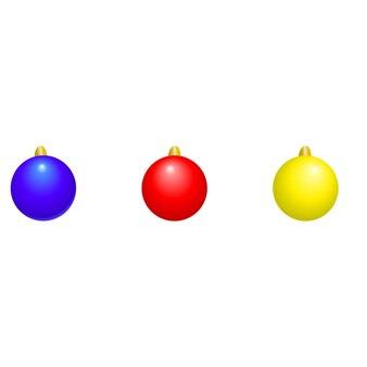 Set van bal kerstboom speelgoed kerst vector illustratie clipart