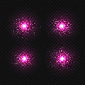 Set van bal van elektriciteit