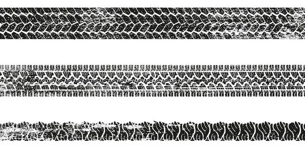 Set van band spoor silhouet