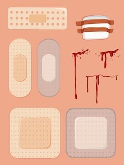 Set van bandaids en bezuinigingen