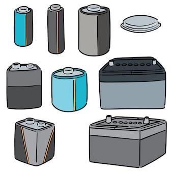 Set van batterij