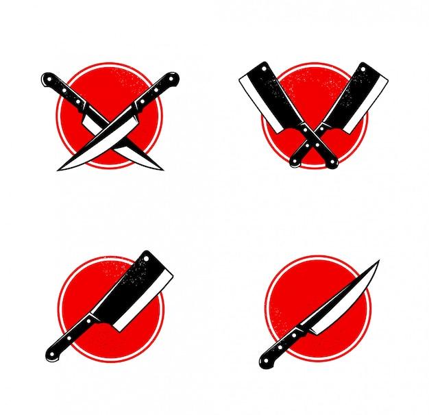 Set van bbq- en grill tools geïsoleerd op een witte achtergrond. ontwerpelementen voor menu, poster, embleem, teken.