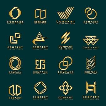 Set van bedrijf logo ontwerp ideeën vector