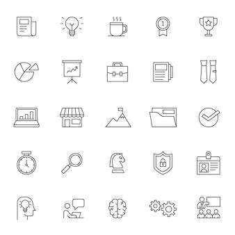 Set van bedrijfsbeheer pictogram