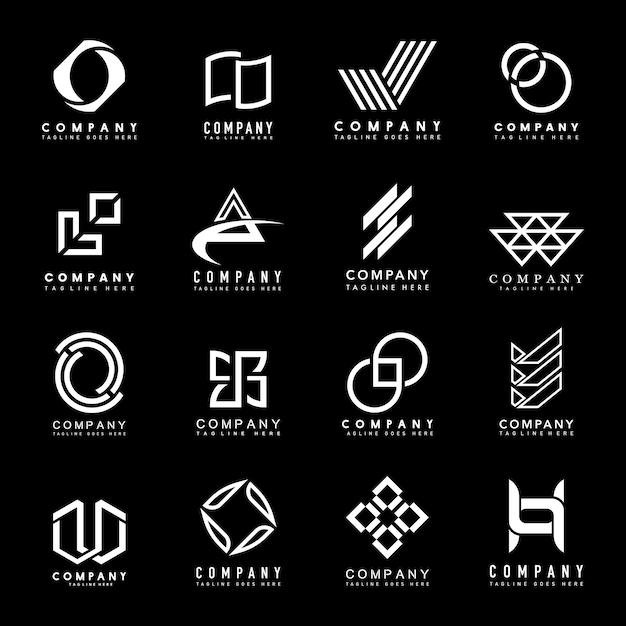 Set van bedrijfslogo ontwerpideeën