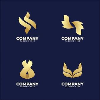 Set van bedrijfslogo