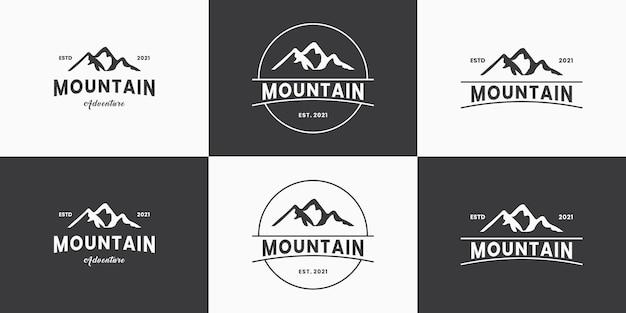 Set van berg avontuur logo ontwerp badge vector collectie