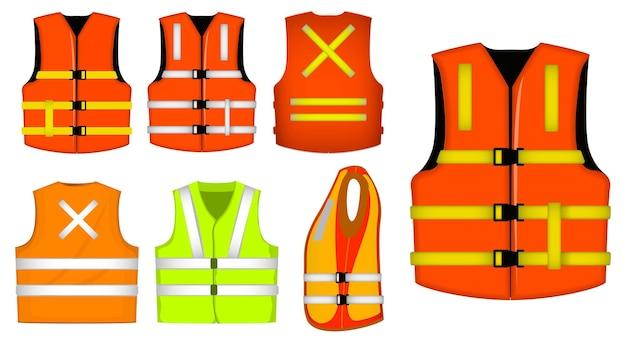 Set van beschermende constructiekleding of vest jas veiligheid of professionele vest constructie uniform