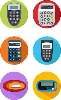 Set van beveiliging token pictogram