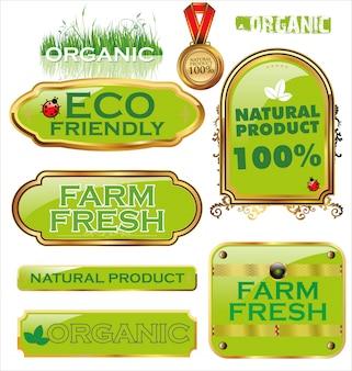 Set van biologische labels