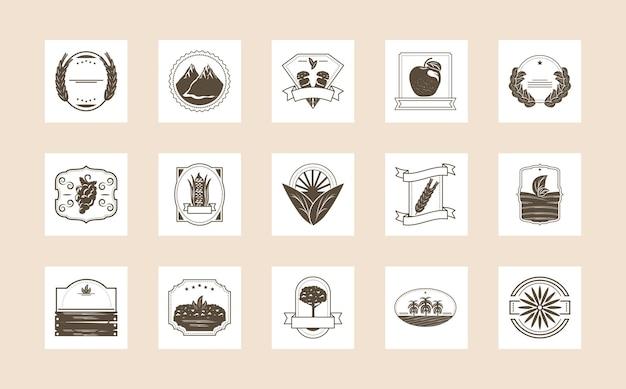 Set van biologische producten