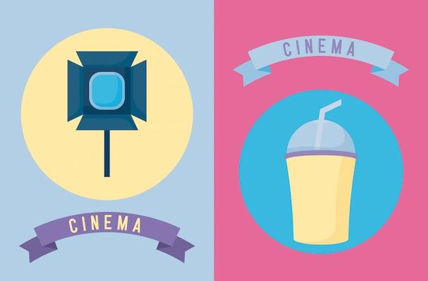Set van bioscoopfilm