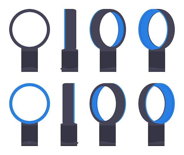 Set van blaasloze luchtventilatoren