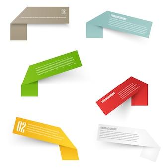 Set van blanco rechthoek etiketten. acute hoeken