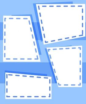 Set van blauwe sjablonen