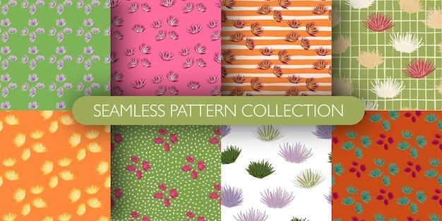 Set van bloemknop naadloze patroon.