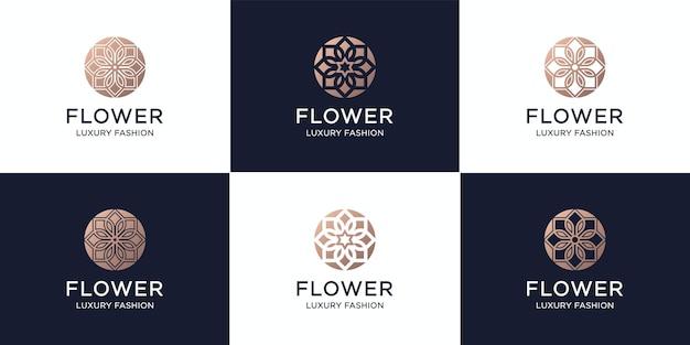 Set van bloemschoonheid, cosmetica, luxe, mode en spa-inspiratie.