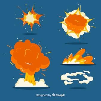 Set van bomexplosie-effecten