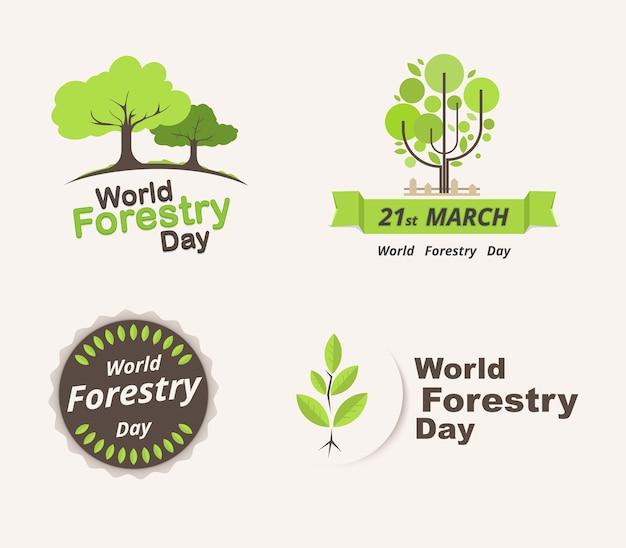 Set van bosachtige dag ter wereld. 21 maart