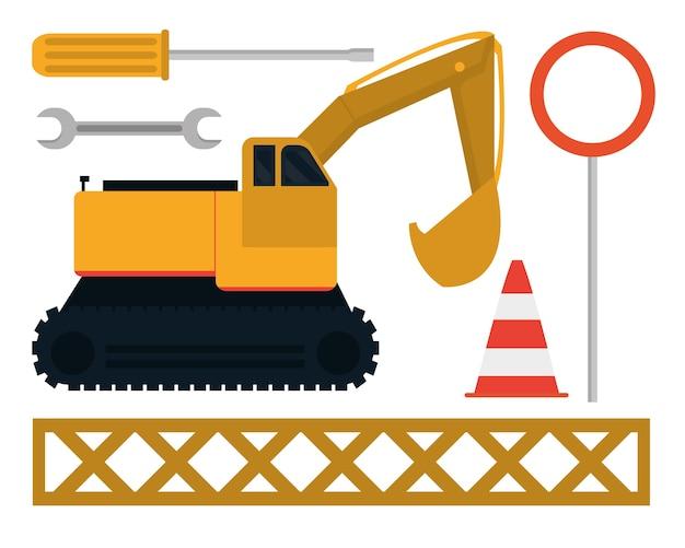 Set van bouw pictogrammen