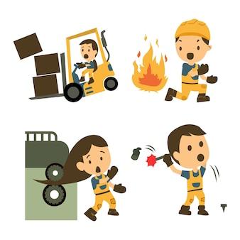 Set van bouwvakker