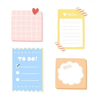 Set van briefpapier.
