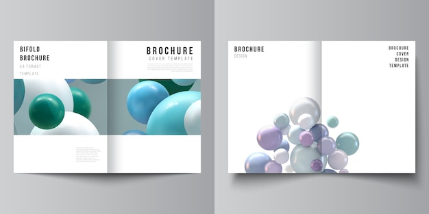Set van brochures