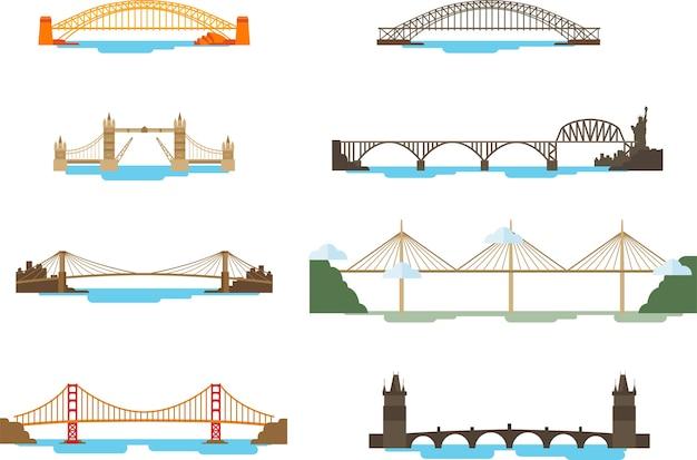Set van brug boven de zee