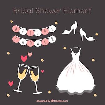 Set van bruiloft elementen