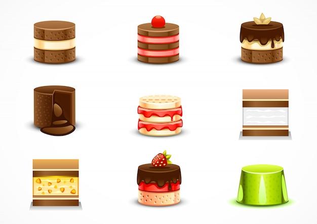Set van cakes
