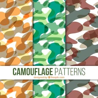 Set van camouflagepatronen