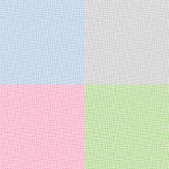 Set van canvas textuur. illustratie