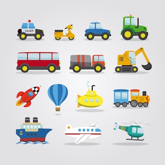 Set van cartoon auto's