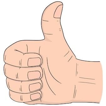 Set van cartoon hand