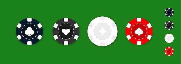 Set van casino chips iconen